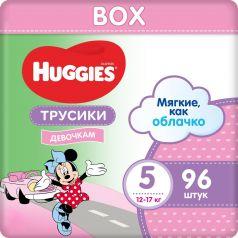 Трусики-подгузники для девочек Huggies Disney Box 5, 12-17кг, 96шт.