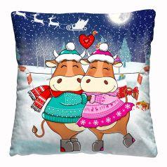 """Подушка-думка Нордтекс Новый год """"Сладкая парочка"""", 40х40см"""
