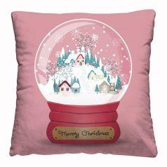"Подушка-думка Нордтекс Новый год ""Снежный шар"", 40х40см"