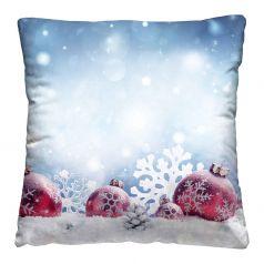 """Подушка-думка Нордтекс Новый год """"Шары на снегу"""", 40х40см"""