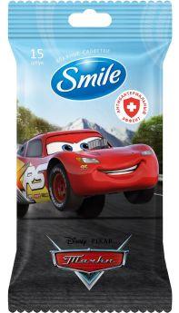 Детские влажные салфетки Smile Disney Cars антибактериальные (в ассорт.), 15шт.