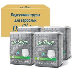 Подгузники-трусы для взрослых Dr. Skipp M-2, 4х20шт.