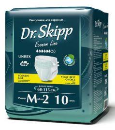 Подгузники для взрослых Dr. Skipp Econom Line M-2, 68-115см, 10шт.