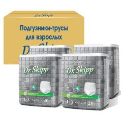 Подгузники-трусы для взрослых Dr. Skipp L-3, 4х20шт.