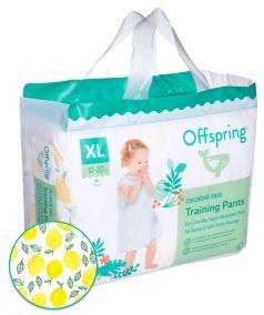 """Подгузники-трусики Offspring """"Лимоны"""" XL, 12-20кг, 30шт."""