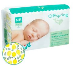 "Подгузники Offspring ""Лимоны"" NB, 2-4кг, 56шт."