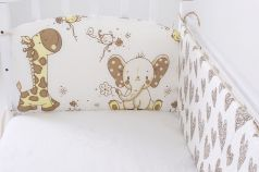 "Бампер для кроватки Топотушки ""Жираф и слоненок"", 360х30см"