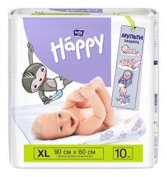 Пеленки гигиенические для детей Bella Happy, 90x60см, 10шт.