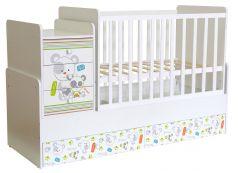 "Кроватка-трансформер Polini kids Simple 1100 ""Панды"""