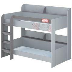"""Кровать двухъярусная Polini kids Marvel 5005 """"Железный человек"""""""