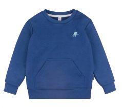 Свитшот Bossa Nova для мальчика с карманом-кенгуру, синий