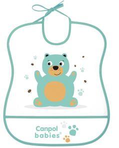 Нагрудник Canpol babies Anima с карманом, голубой
