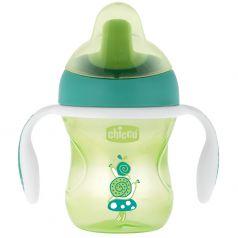 Чашка-поильник Chicco Training Cup 3-в-1, 200мл, зеленая