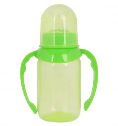 Бутылочка ПоМа с ручками, соска силикон. средний поток, зеленая, 125мл