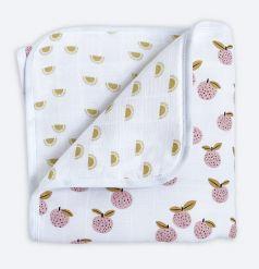 "Муслиновое одеяло Mjolk ""Персики"" утепленное, 100х75см"