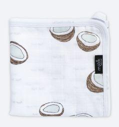 """Муслиновое одеяло Mjolk """"Кокосы"""" легкое, 110х110см"""