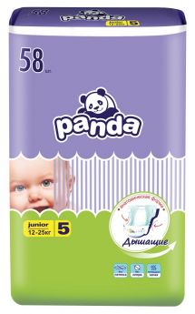 Подгузники Panda Junior, 12-25 кг, 58шт.