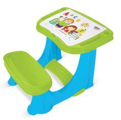 Детская парта PILSAN со скамеечкой, 62х78х50см, зелено-голубая