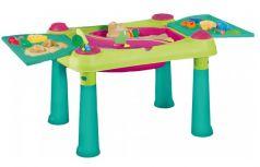 Стол KETER Creative для детского творчества и игры с водой и песком, 79х56х50см, зелено-фиолетовый