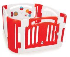 Детское ограждение-манеж PILSAN, 118х118х60,5см, красно-белое