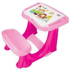 Детская парта PILSAN со скамеечкой, 62х78х50см, розовая