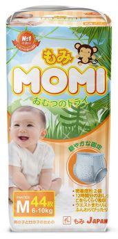 Японские трусики-подгузники Momi Monkey Megabox M (6-10кг), 44*2шт.