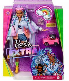"Кукла Barbie ""Extra"" с радужными косичками"