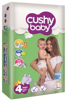 Подгузники Cushy baby 8-19кг, 60шт.