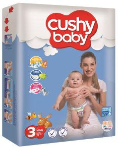 Подгузники Cushy baby 4-9кг, 70шт.