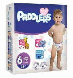 Подгузники Paddlers Baby, 15+ кг, 38шт.