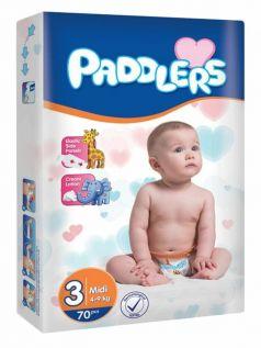 Подгузники Paddlers Baby, 4-9кг, 70шт.