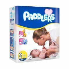 Подгузники Paddlers Baby, 3-6кг, 80шт.