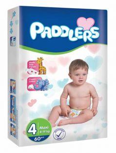 Подгузники Paddlers Baby, 8-19кг, 60шт.