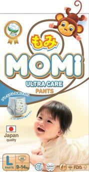 Подгузники-трусики Momi Ultra Care L (9-14кг), 44шт.