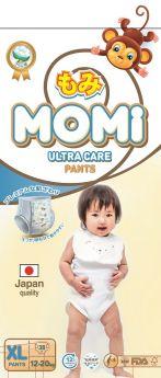 Подгузники-трусики Momi Ultra Care XL (12-20кг), 38шт.