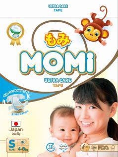 Подгузники Momi Ultra Care S (4-8кг), 82шт.