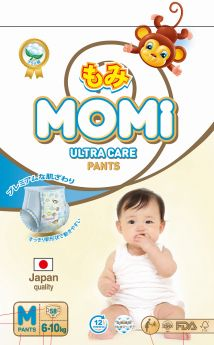 Подгузники-трусики Momi Ultra Care M (6-10кг), 58шт.