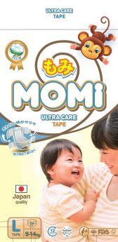 Подгузники Momi Ultra Care L (9-14кг), 54шт.