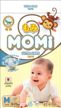 Подгузники Momi Ultra Care M (6-11кг), 62шт.