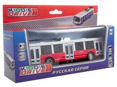 Общественный транспорт трамвай KiddieDrive инерционный, свет, звук, красный, 17см