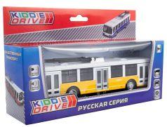 Общественный транспорт трамвай KiddieDrive инерционный, свет, звук, желтый, 17см