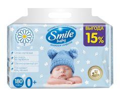Детские влажные салфетки Smile Baby с экстрактом алоэ, 3х60шт.