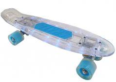 """Скейтборд X-Match """"Morgenstern"""", дека 56х15см с LED, колеса PU 6х4,5см"""