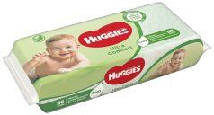 Детские влажные салфетки Huggies Ultra Comfort с алоэ, 56шт.