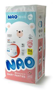 Трусики-подгузники NAO XL (12+ кг), 34шт.