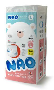 Трусики-подгузники NAO L (9-14 кг), 44шт.