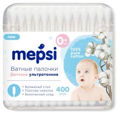 Ватные палочки Mepsi детские, ультратонкие, 400шт.