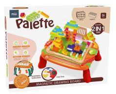 Стол для игры с конструктором Pituso, 37,5х25х17,5см, магнитная доска, конструктор, 150 деталей