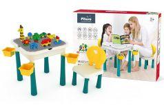 Стол для игры с конструктором Pituso, 47х47х46,5см, стул, 24,5х24,5х42,5см, конструктор, 66 элементов
