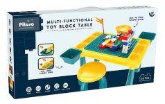 Стол для игры с конструктором Pituso, 48,4х30,2х27,2см, табурет, конструктор, 58 деталей